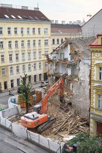 Abriss des Hauses Baumgasse 71, Wien-Landstraße