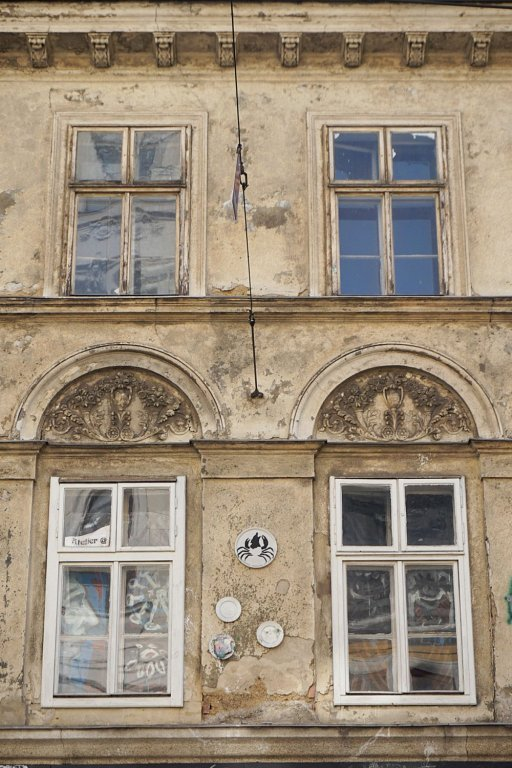 Fassade des Hauses Breite Gasse 15 in Wien-Neubau (7. Bezirk)