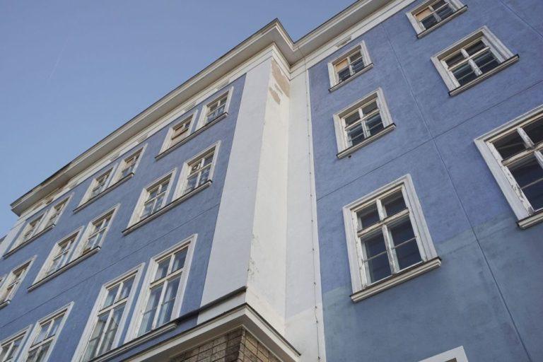 Blaues Haus vor dem Abriss, 1150 Wien