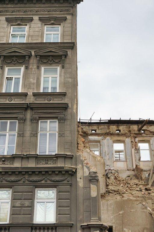 Abriss des Gebäudes Mariahilfer Gürtel 33, Rudolfsheim-Fünfhaus
