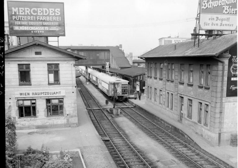 Bahnhof Hauptzollamt im Jahr 1952, Wien Mitte