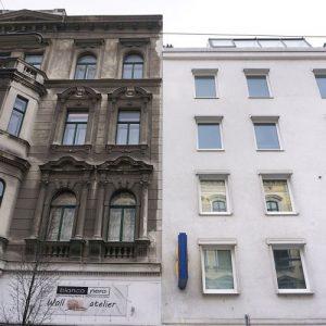 Altbau und Neubau in der Hernalser Hauptstraße