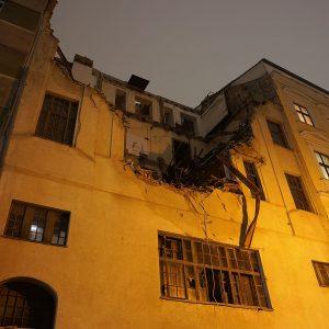 Zerstört: Ein Gebäude aus dem jüdischen Wien verschwindet