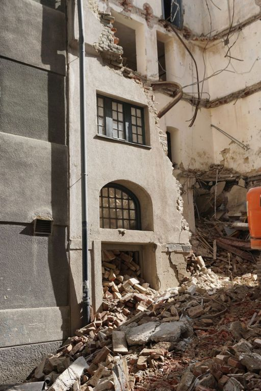 Abriss Floßgasse 14 in Wien-Leopoldstadt, ehemalige jüdische Mikwe (Ritualbad)