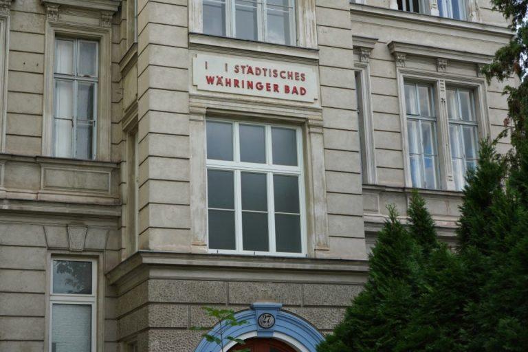 Tröpferlbad, Währing, Historismus-Fassade, Dekor, Wien