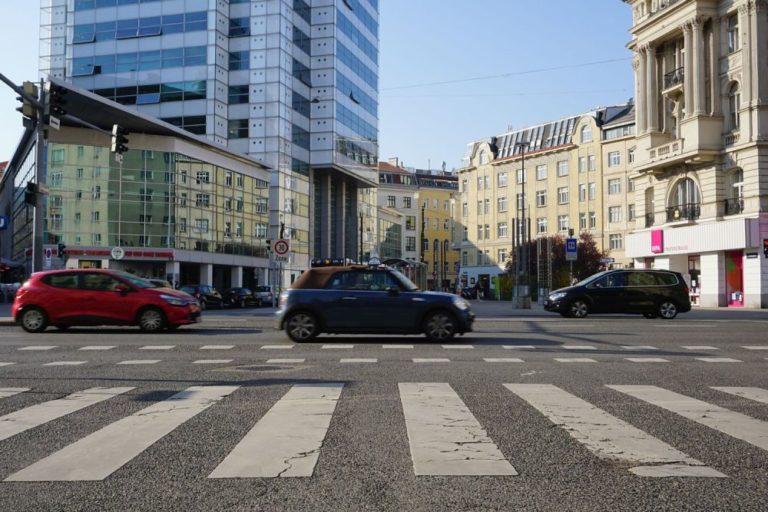Praterstraße/Nestroyplatz, Galaxy-Tower, Alliiertenhof, Wien-Leopoldstadt (2. Bezirk)