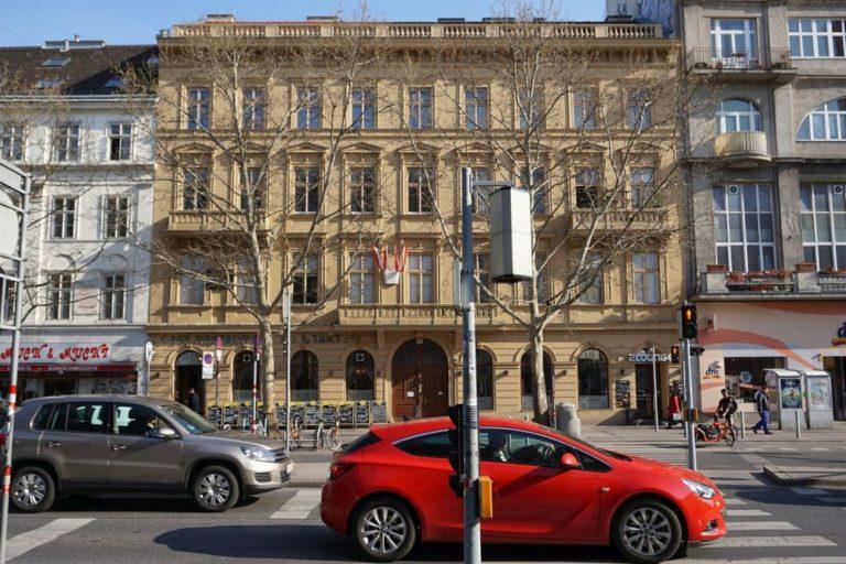 historisches Gebäude (Hotel) an der Praterstraße Nr. 54, Wohnung von Johann Strauß