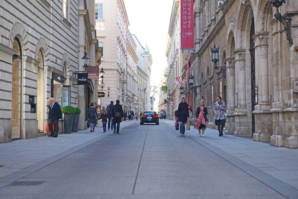 Begegnungszone Herrengasse, Wien, Innere Stadt