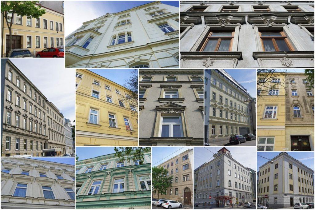 Gründerzeithäuser in Kaisermühlen, Wien-Donaustadt (22. Bezirk)
