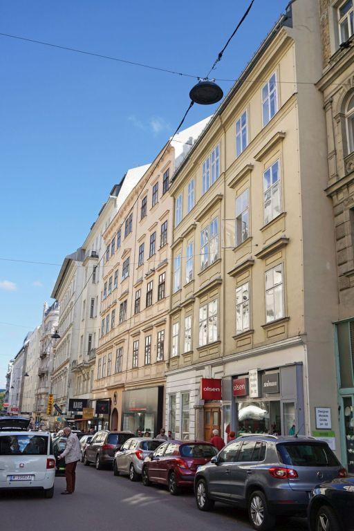 historische Gebäude in der Wollzeile, 1010 Wien