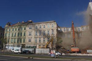 Abriss eines Gründerzeithauses am Wiedener Gürtel