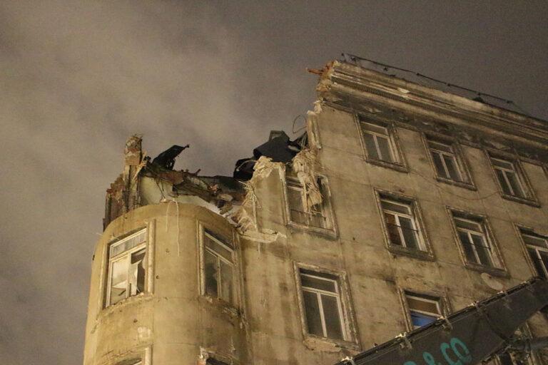 Abriss des Gründerzeithauses Bauernmarkt 21, Wien, 1. Bezirk