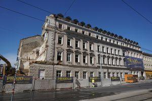 Abriss des ehemaligen Hotels Thüringerhof, 1180 Wien