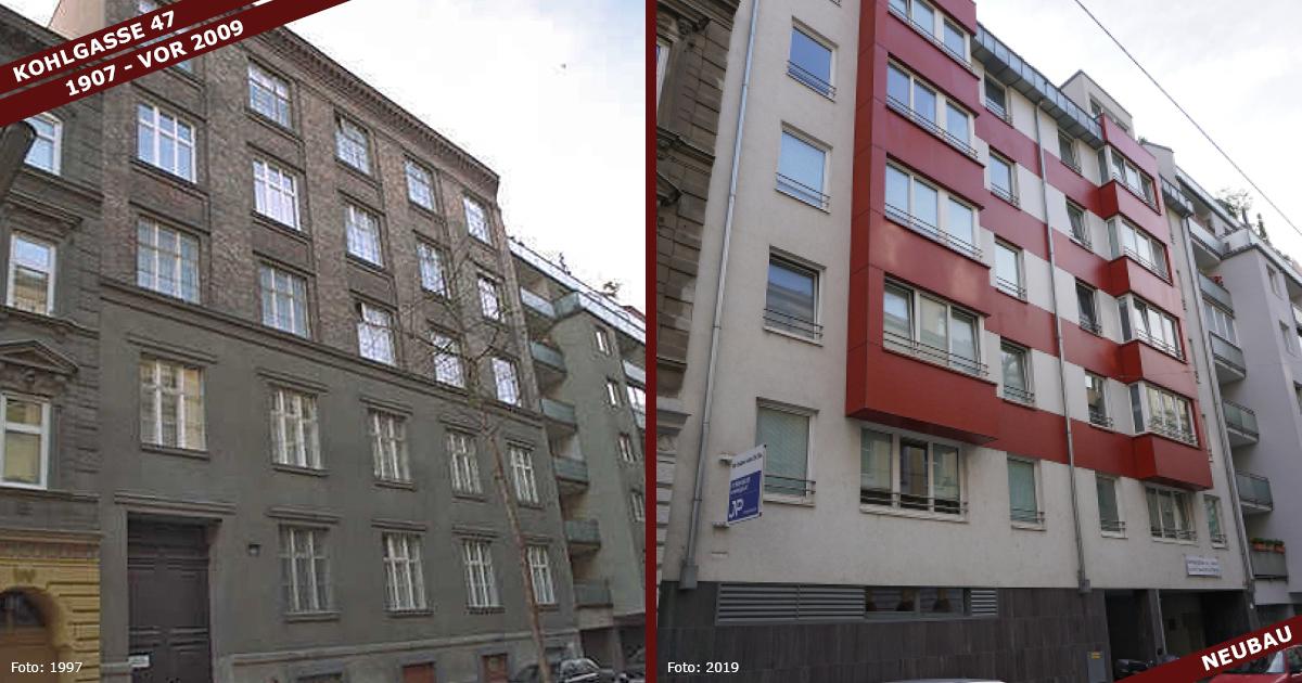 Read more about the article Kohlgasse 47: Abriss & Neubau