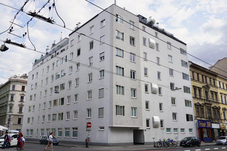 Neubau in der Alserbachstraße 26, ersetzt ein zuvor abgerissenes Gründerzeithaus, Wien-Alsergrund