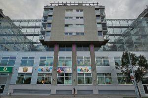 """Gebäudekomplex mit Wohnungen und Einkaufszentrum """"Millenium City"""" in Wien-Brigittenau (20. Bezirk)"""