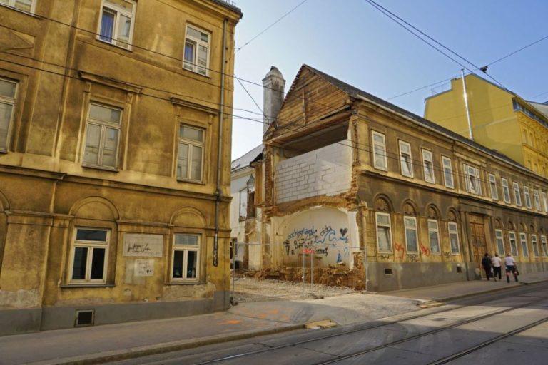 Abriss in der Kaiserstraße, Wien-Neubau