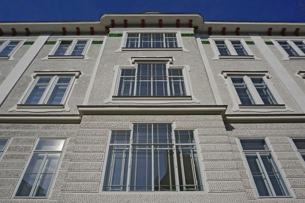 Fassade der Jugendstil-Frauenklinik des Wiener AKH, Spitalgasse 23