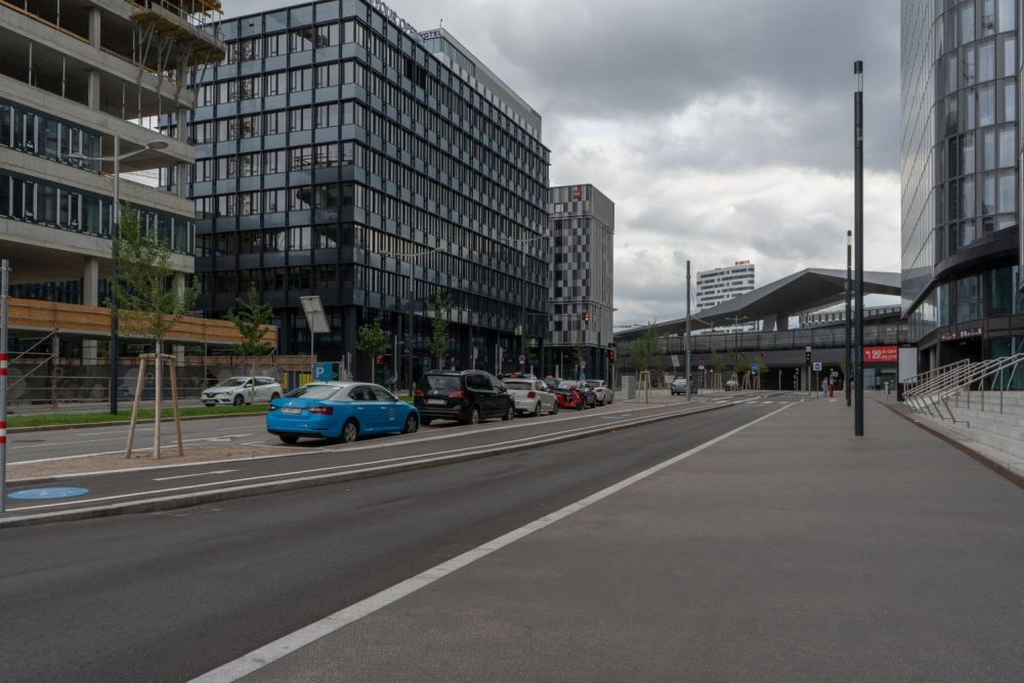 Argentinierstraße beim Wiener Hauptbahnhof, Quartier Belvedere