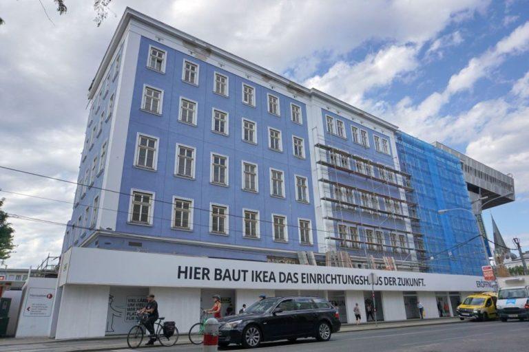 blaues Haus wird abgerissen, IKEA, Westbahnhof