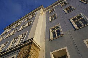Blaues Haus in der Mariahilfer Straße, vor dem Abriss