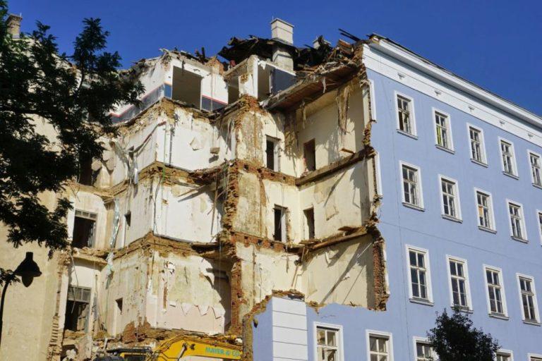 Blaues Haus in Wien wird für eine IKEA-Filiale abgerissen, Rudolfsheim-Fünfhaus