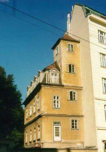 Schubertturm in der Erdbergstraße 17, vor dem Abbruch/Umbau, 1030 Wien