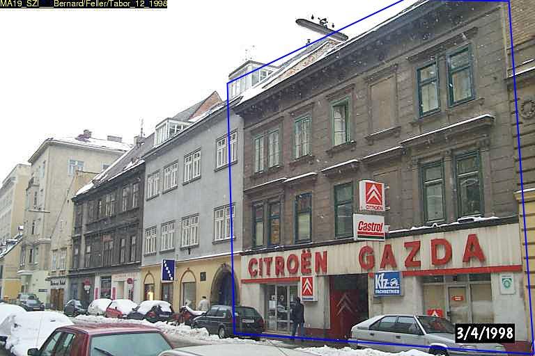 Große Sperlgasse 14: erbaut 1650, Abriss 2009 trotz Schutzzone (Foto: 1998, MA 19/Stadt Wien)