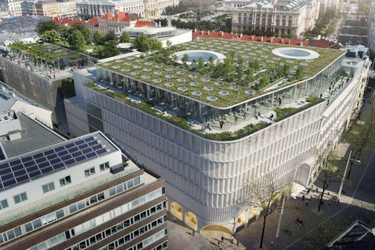 Rendering des Neubaus des Wiener KaDeWe in der Mariahilfer Straße