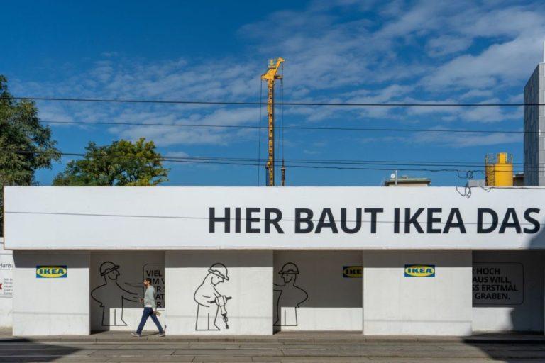 Baustelle, IKEA, nach Abriss des blauen Hauses