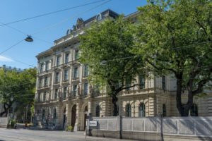 Armenversorgungshaus, Spitalgasse, Bäume, AKH-Wien
