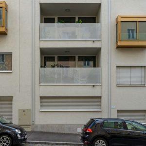 Loggien des Neubaus Graf-Starhemberg-Gasse 14, ersetzt Bösendorfer-Klavierfabrik