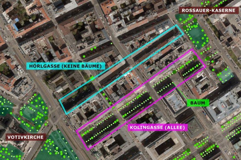 Plan eines Wiener Bezirksteils