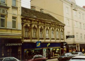 abgerissenes Gründerzeithaus in der Hütteldorfer Straße in Wien