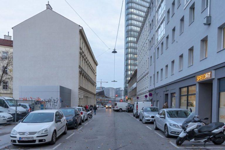 Johannitergasse in Wien-Favoriten, zwischen Favoritenstraße und Hauptbahnhof