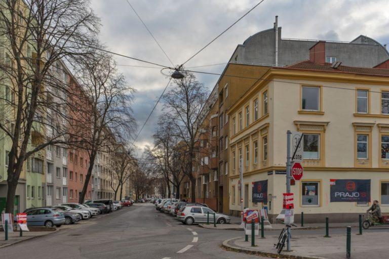 Dammstraße in Wien-Brigittenau (20. Bezirk)