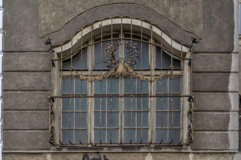 Fenster mit Jugendstil-Dekor, Villa Mautner-Jäger