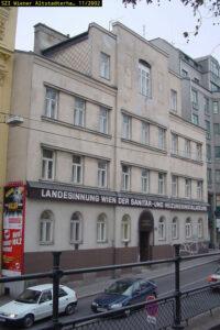 """""""Landesinnung Wien der Sanitär- und Heizungsinstallateure"""", Gumpendorfer Straße 57, Wien-Mariahilf, abgerissen"""
