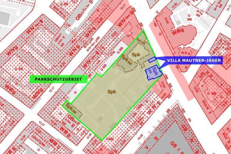 Karte, Flächenwidmung, Landstraße