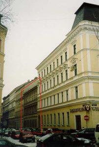 Gründerzeithäuser in Ottakring, Menzelgasse 21 indessen abgerissen