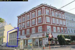 Gründerzeithaus Obere Augartenstraße 4, 1020 Wien, später abgerissen