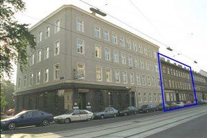 Gründerzeithaus Rennweg 90, altes Foto, Haus später abgerissen, Wien-Landstraße