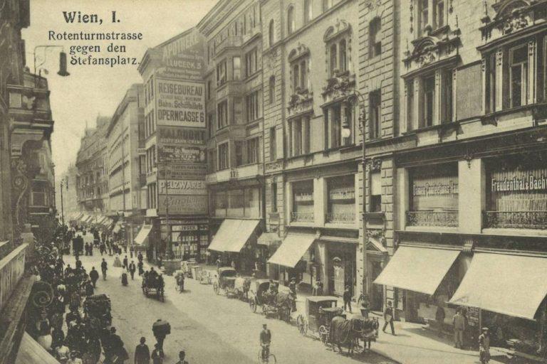 altes Foto, Straße, Kutschen Jahrhundertwende