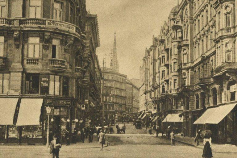 alte Aufnahme der Rotenturmstraße vom Schwedenplatz aus, Wien