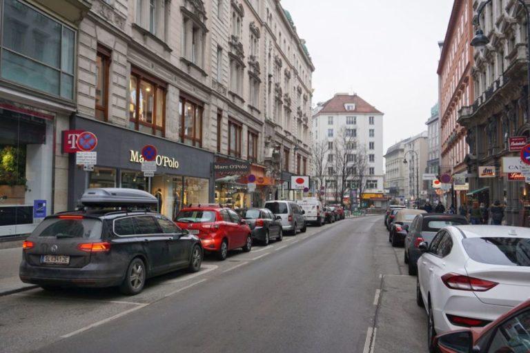 Rotenturmstraße vor der Umgestaltung, 1010 Wien