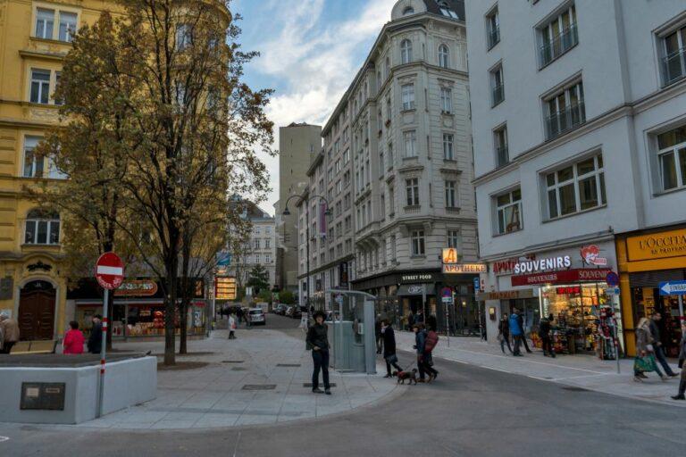 Rotenturmstraße und Fleischmarkt nach dem Umbau zur Begegnungszone, 2019, Wien, Innere Stadt