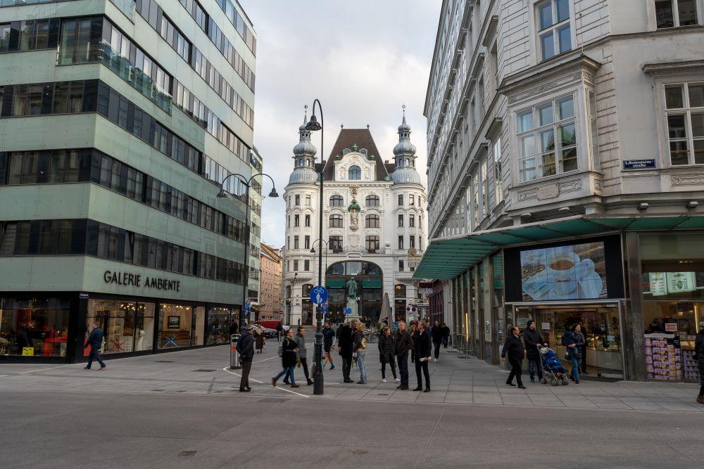 Rotenturmstraße und Lugeck, Fußgänger, Wien