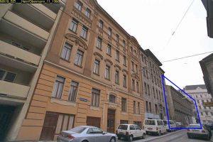 abgerissenes Wohnhaus Turnergasse 33, früher ein atypischer Gemeindebau, 1150 Wien