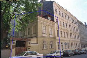 Gründerzeithaus und Restaurant in der Cottagegasse 6, Baujahr 1897, Abriss ca. 2011, Wien-Währing