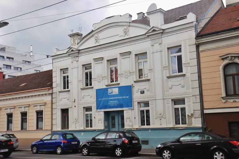 Donaufelder Straße 217: erbaut um 1900, Abriss 2014 (Foto: skyscrapercity.com)